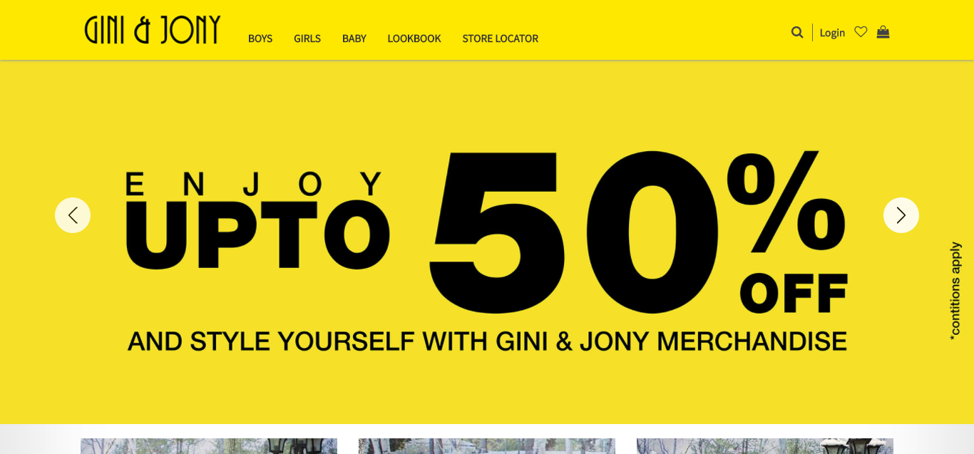 gini and joni uses yellow to promote playfulness