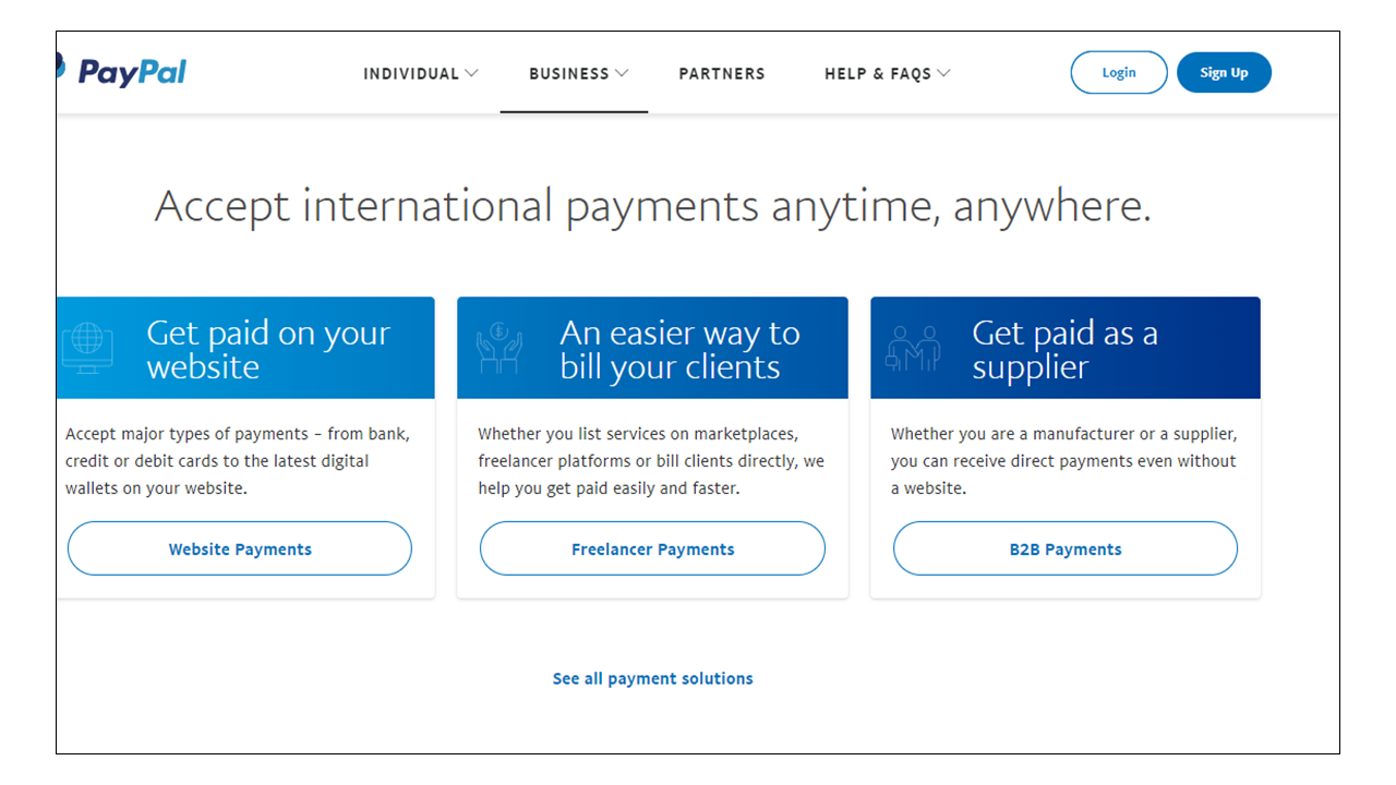 Paypal uses blue to promote trust